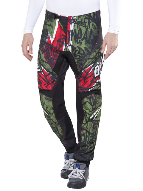 ONeal Element Vandal Pants Men green/red
